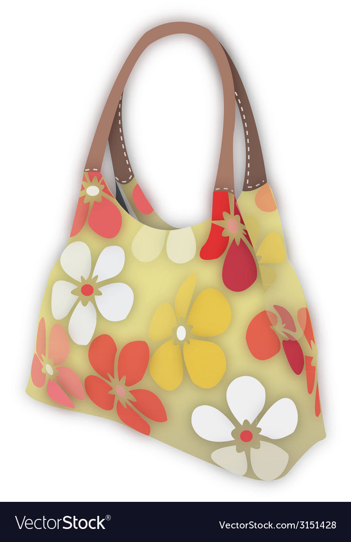 Flower bag vector | Price: 1 Credit (USD $1)