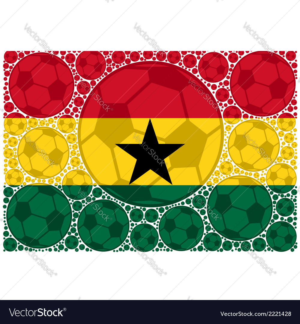 Ghana soccer balls vector | Price: 1 Credit (USD $1)
