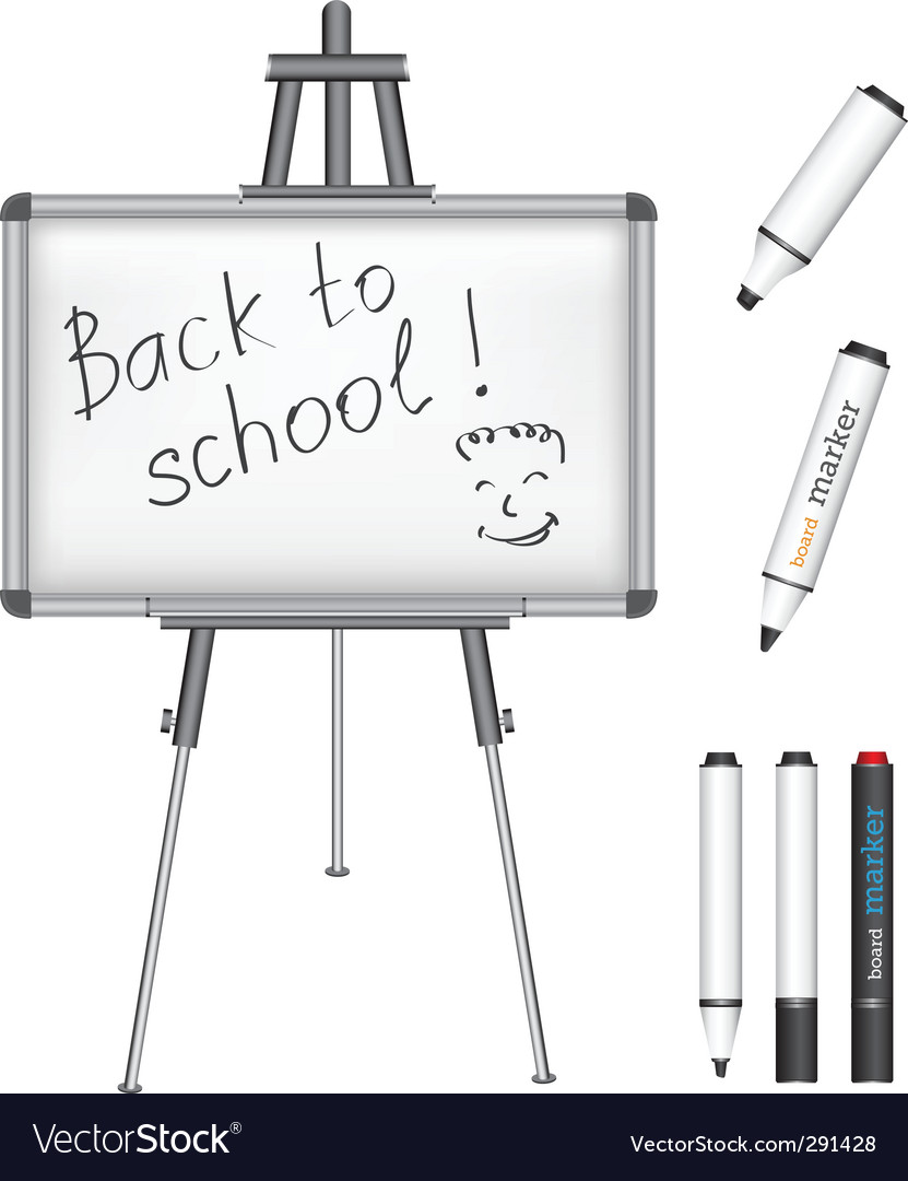 Marker board back to school vector | Price: 1 Credit (USD $1)