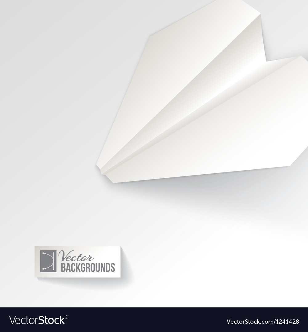 Paper airplane origami vector | Price: 1 Credit (USD $1)