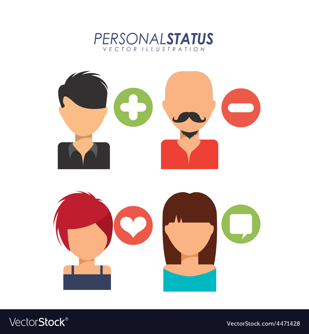 Personal status vector | Price: 1 Credit (USD $1)