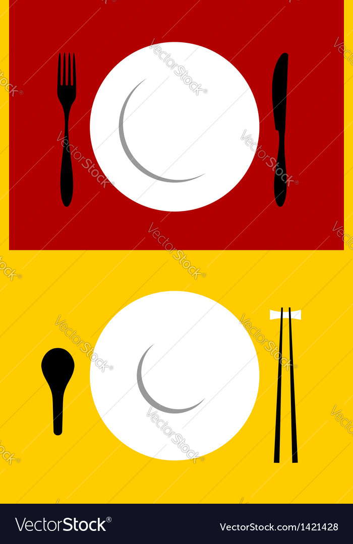 Place setting backgrounds on red and yellow vector | Price: 1 Credit (USD $1)