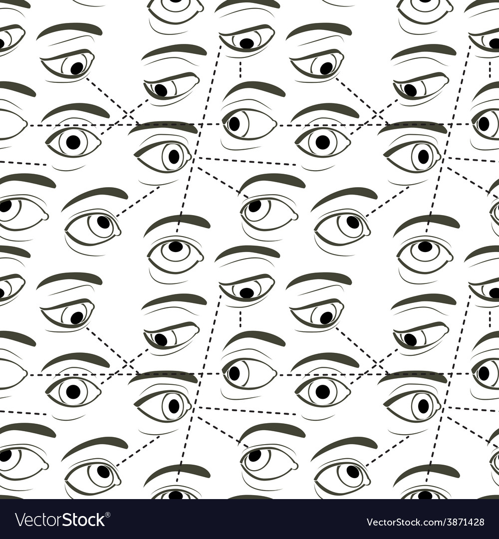 Seamless pattern with eyes vector   Price: 1 Credit (USD $1)