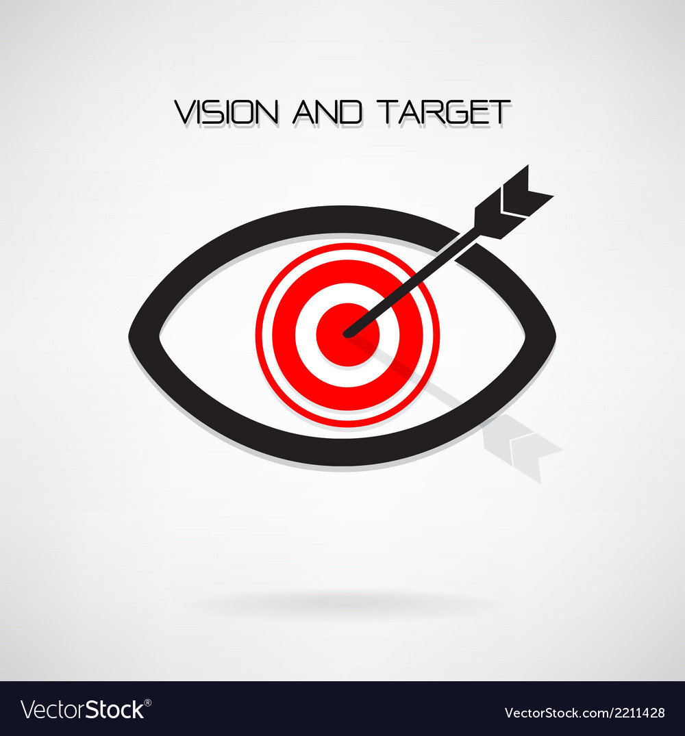 Vision and target concept eye symbol vector | Price: 1 Credit (USD $1)