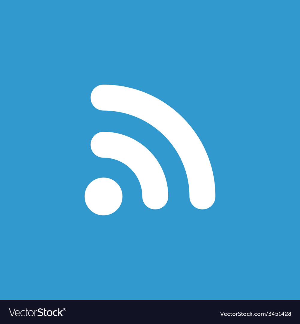 Wifi icon white on the blue background vector   Price: 1 Credit (USD $1)