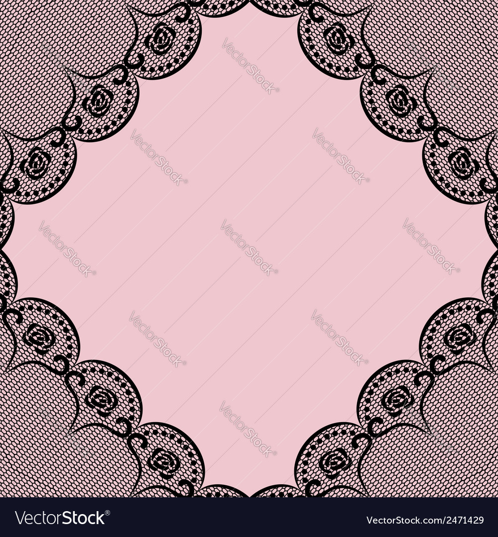 Background with black lacy elements vector | Price: 1 Credit (USD $1)