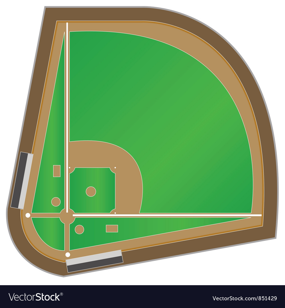 Baseball field vector | Price: 1 Credit (USD $1)