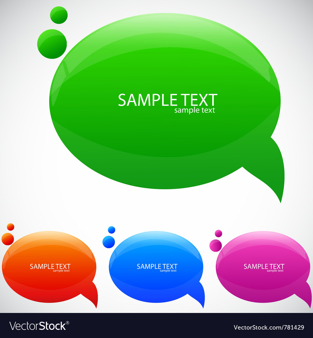 Colorful cloud for speech vector | Price: 1 Credit (USD $1)