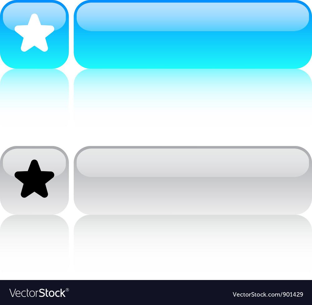 Favorite star square button vector | Price: 1 Credit (USD $1)