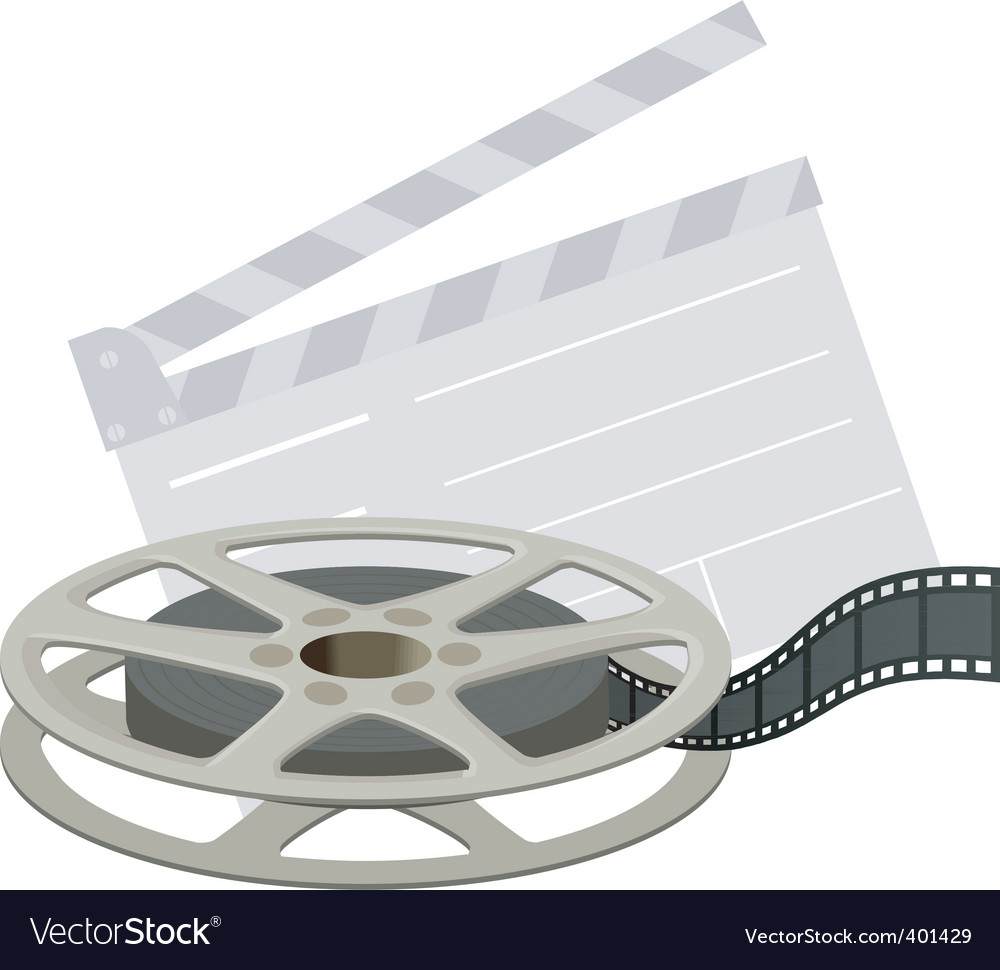 Film reel and clapboard vector | Price: 1 Credit (USD $1)