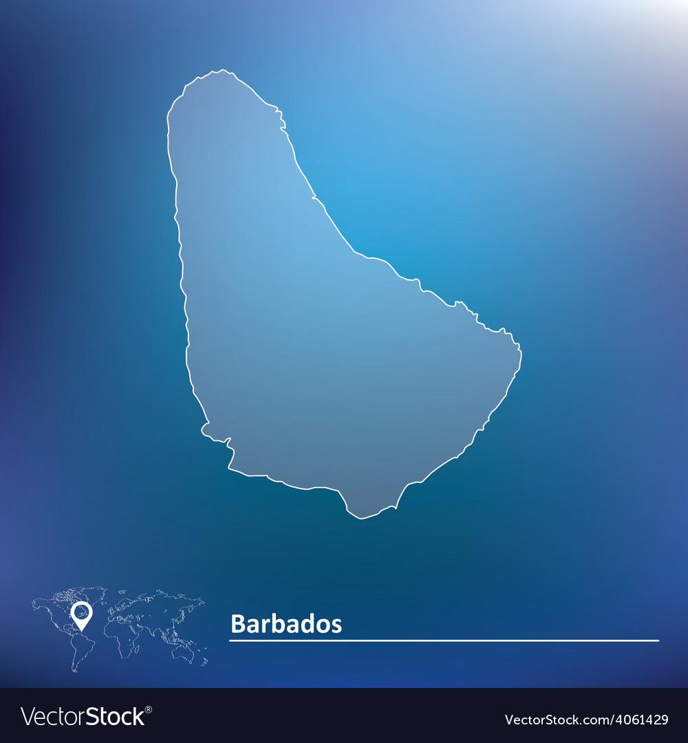 Map of barbados vector | Price: 1 Credit (USD $1)
