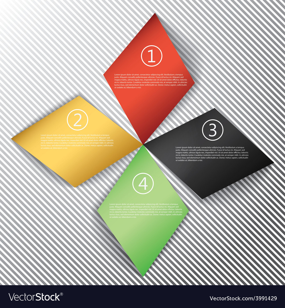 Modern business rhombus origami style options vector | Price: 1 Credit (USD $1)