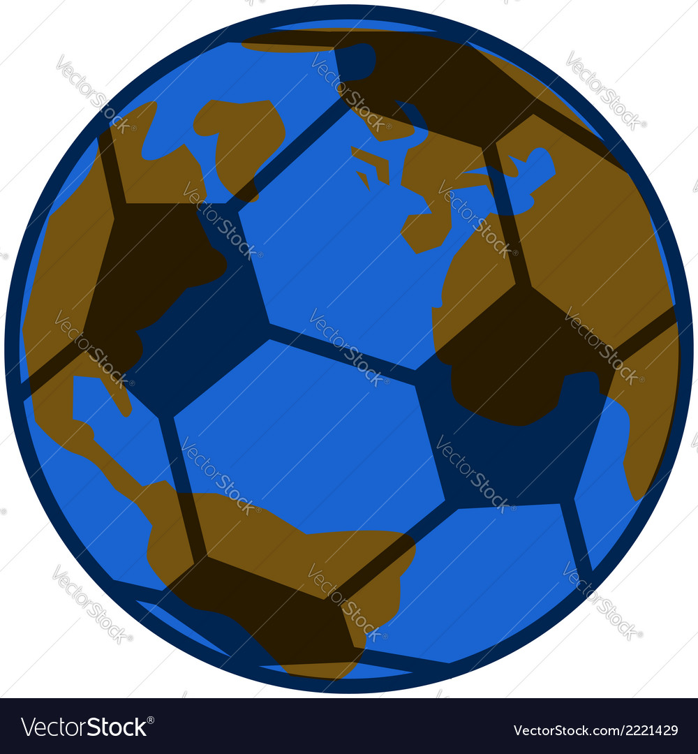 Planet soccer vector | Price: 1 Credit (USD $1)