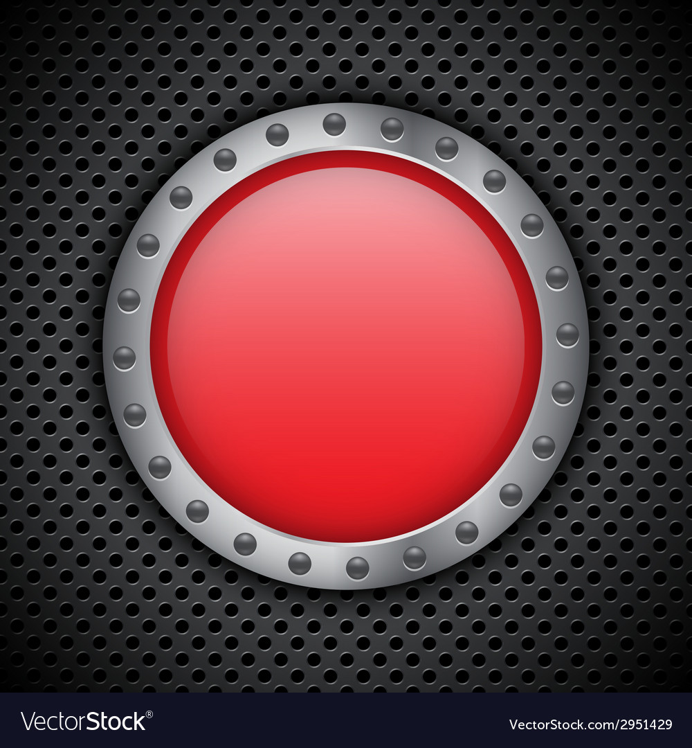 Red chrome button vector | Price: 1 Credit (USD $1)