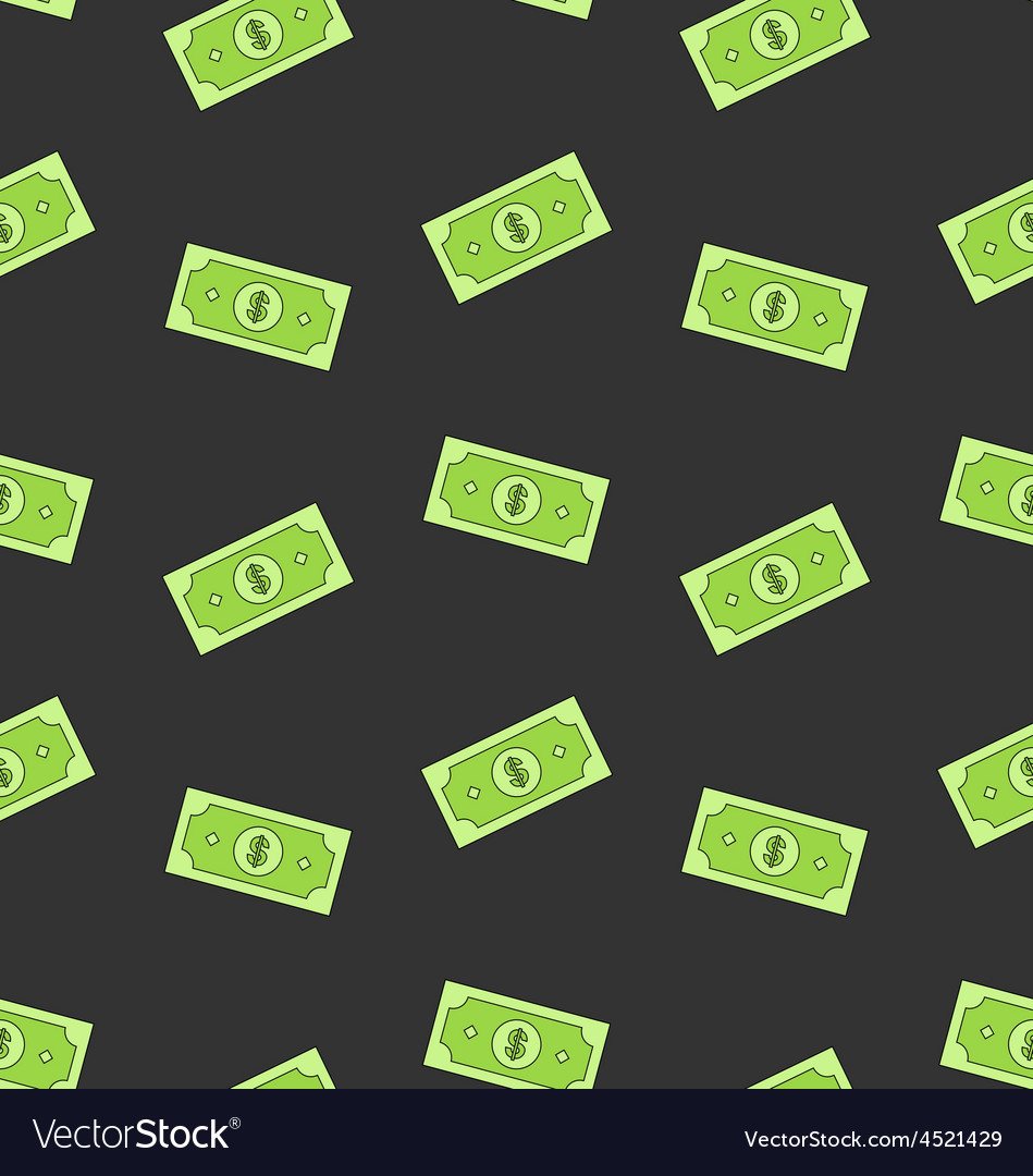 Seamless pattern with american money dollars bank vector