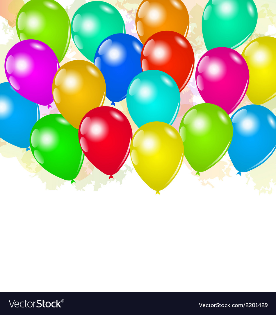 Set colorful balloons for your holiday vector | Price: 1 Credit (USD $1)