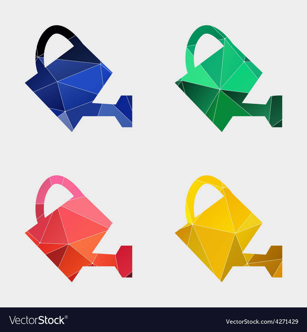 Watering can icon abstract triangle vector | Price: 1 Credit (USD $1)