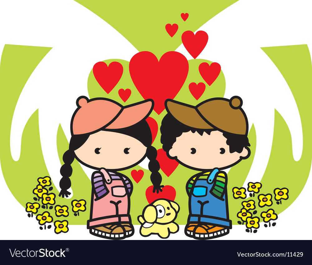 We love puppy loves vector   Price: 3 Credit (USD $3)