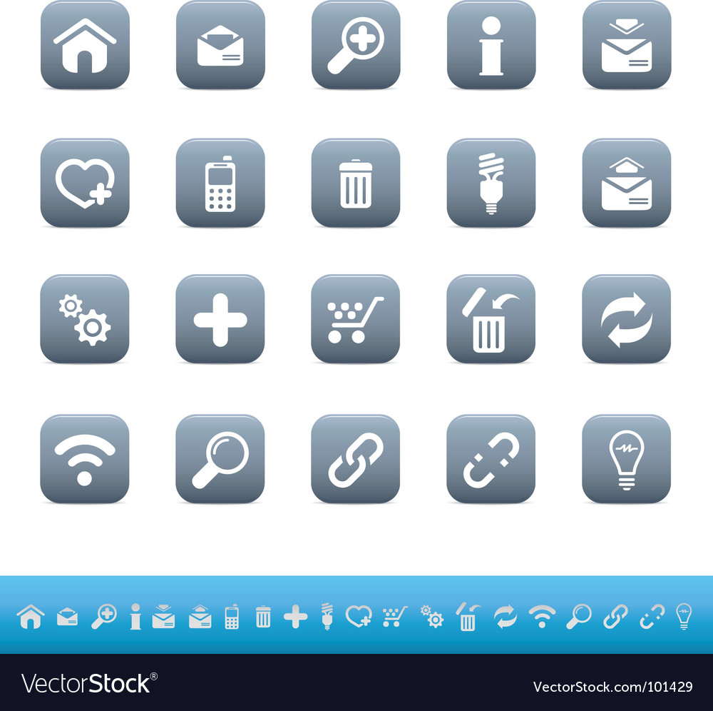 Web icons mate blue vector | Price: 1 Credit (USD $1)