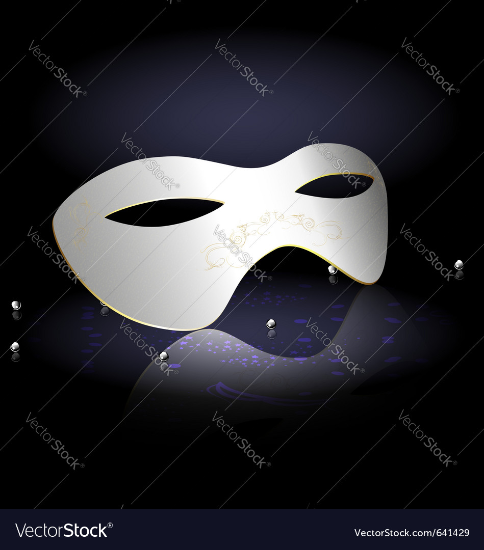 White carnival half-mask vector | Price: 1 Credit (USD $1)
