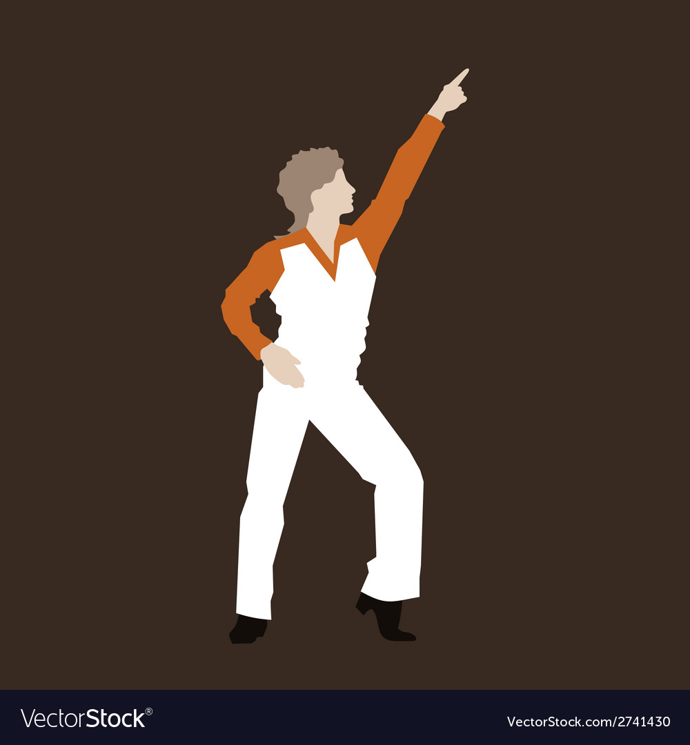 Dancer of a disco vector | Price: 1 Credit (USD $1)