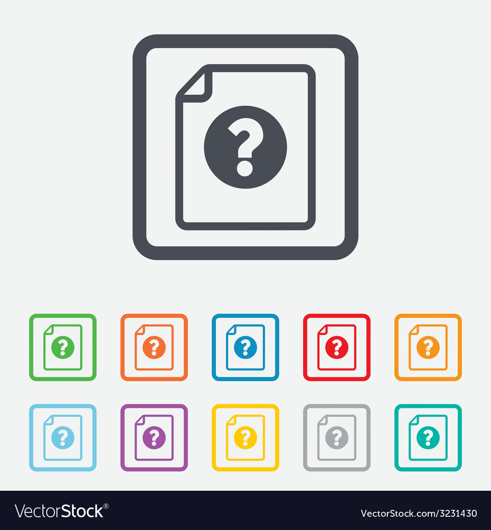 File document help icon question mark symbol vector | Price: 1 Credit (USD $1)