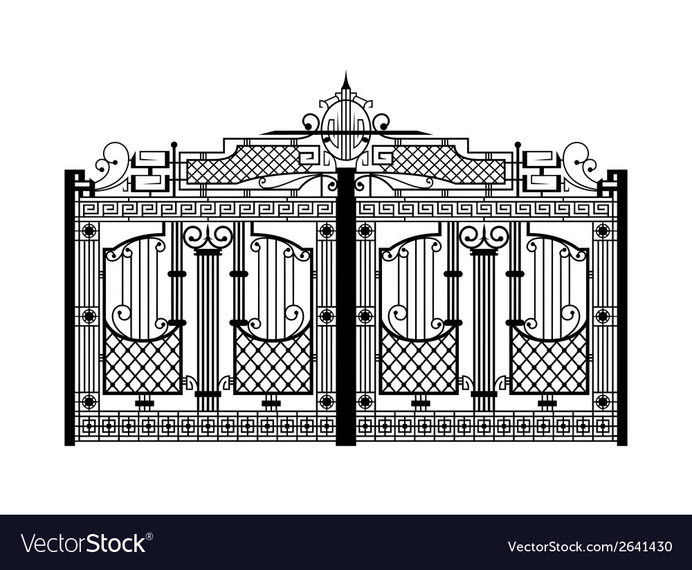Forged gate architecture detail vector | Price: 1 Credit (USD $1)