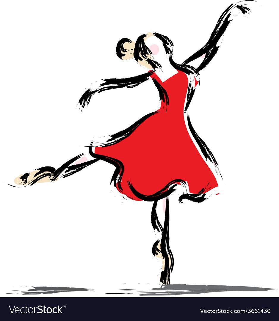 Gesture dancer drawing vector | Price: 1 Credit (USD $1)