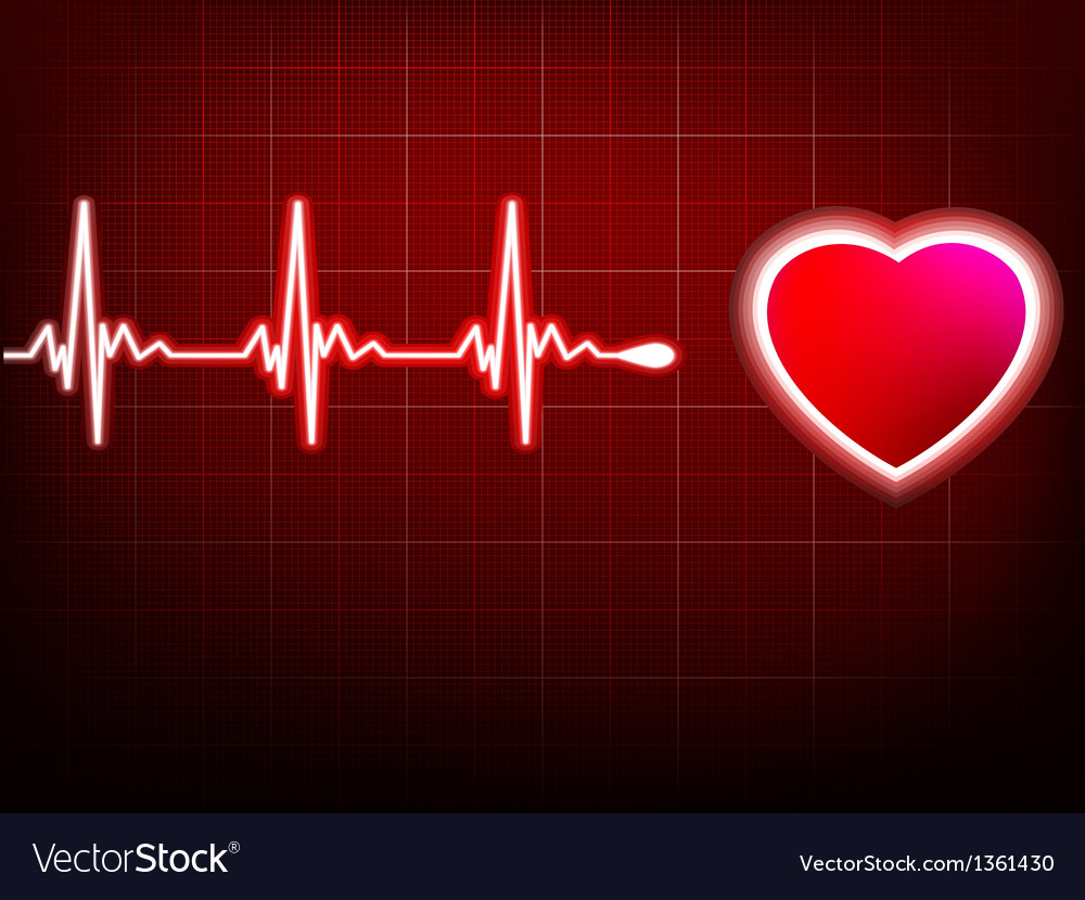 Heart beating monitor eps 10 vector | Price: 1 Credit (USD $1)