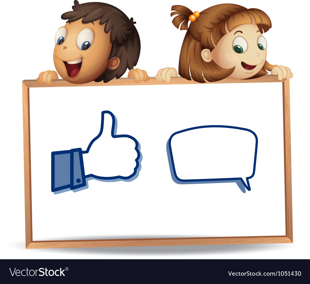 Kids with thumb and call out vector   Price: 3 Credit (USD $3)
