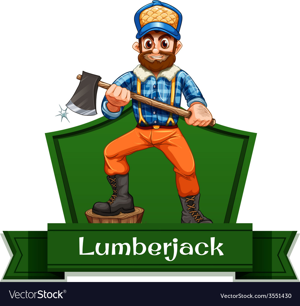 Lumberjack vector | Price: 1 Credit (USD $1)