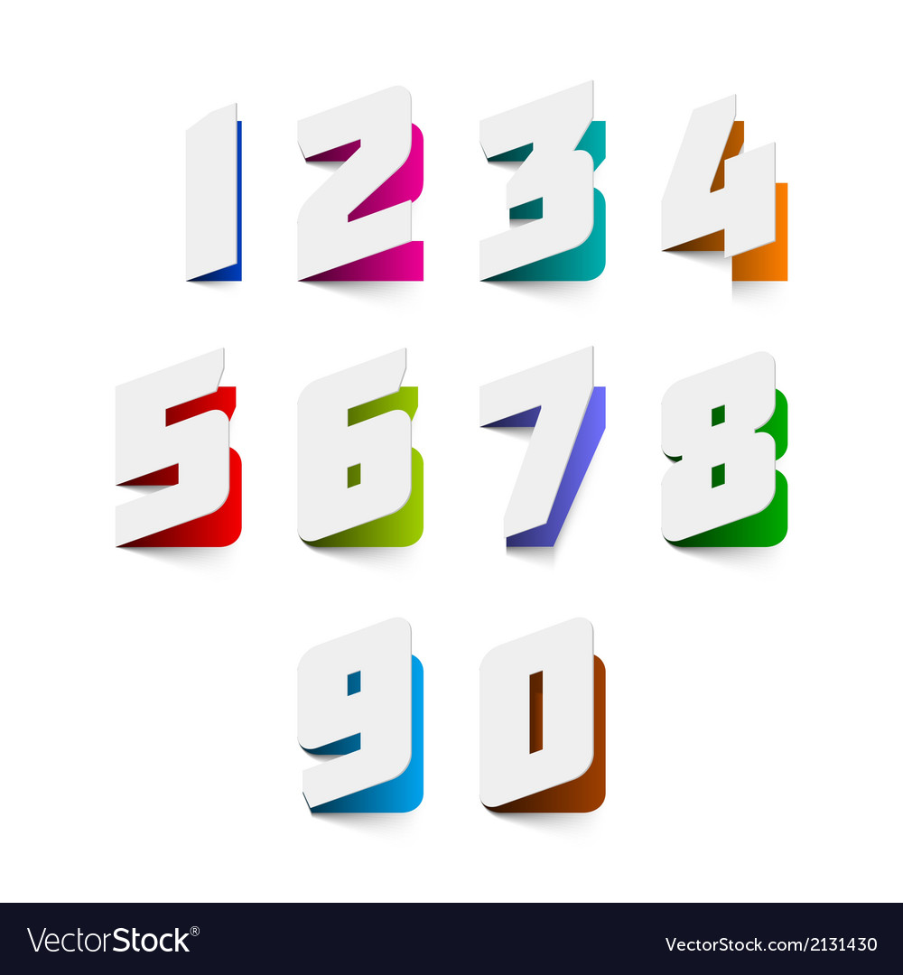 Numbers cut out from paper vector   Price: 1 Credit (USD $1)