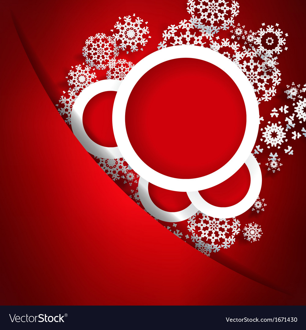 Red christmas card with snowflakes  eps10 vector | Price: 1 Credit (USD $1)