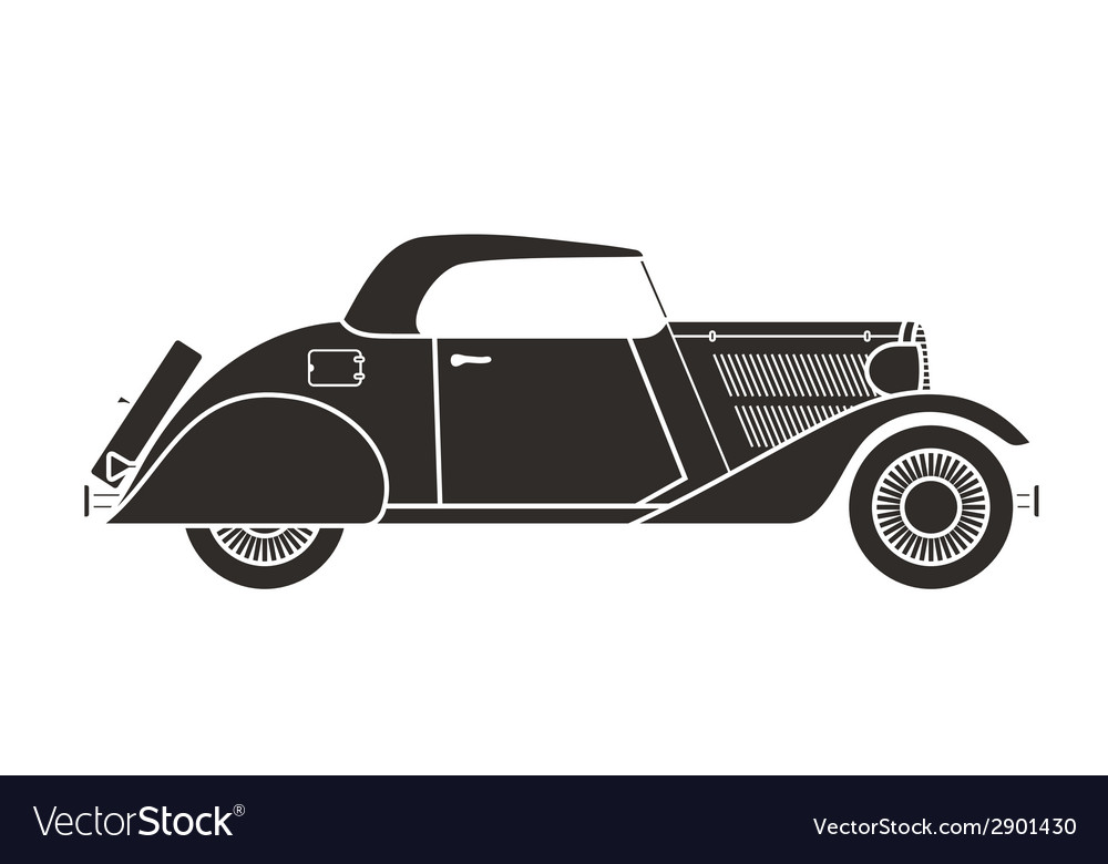 Retro cabriolet car vintage collection vector | Price: 1 Credit (USD $1)