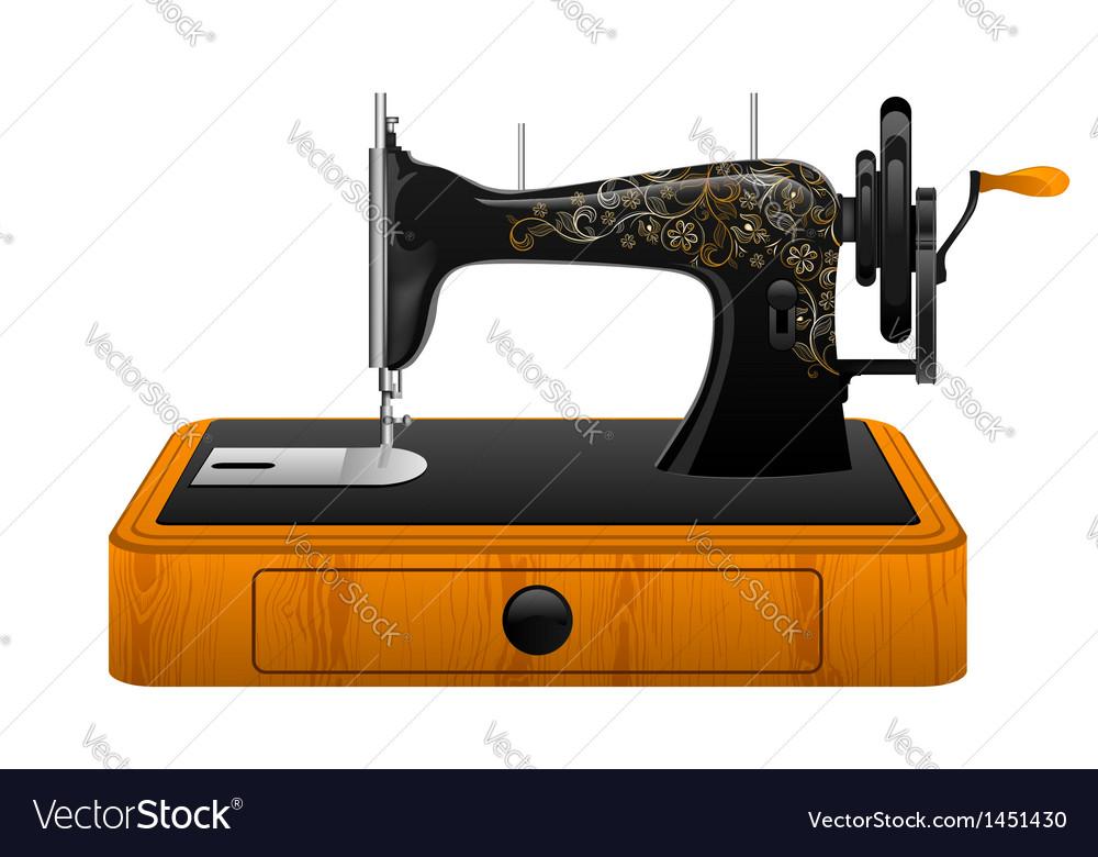 Retro sewing machine vector   Price: 1 Credit (USD $1)