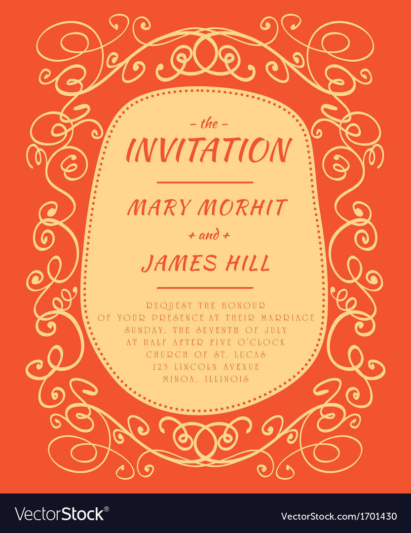 Scribble invitation vector | Price: 1 Credit (USD $1)