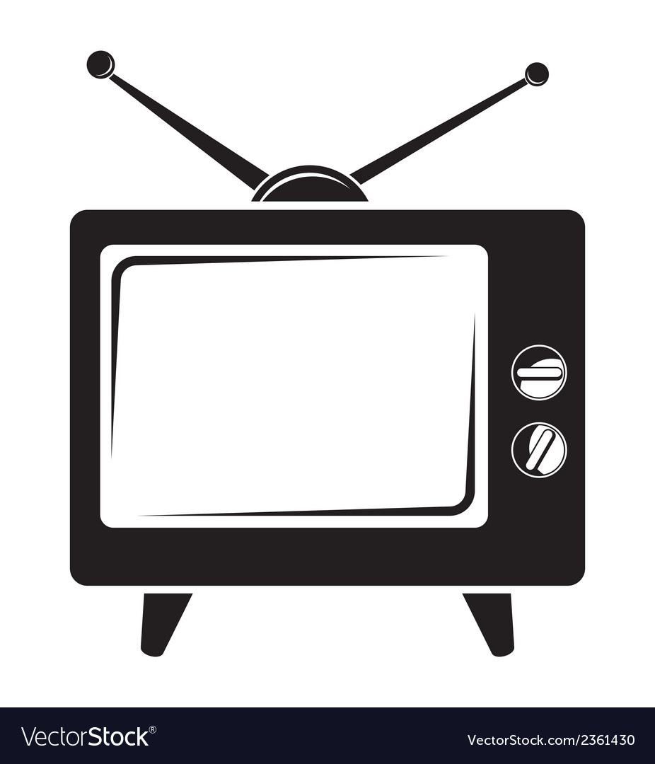 Tv bw vector | Price: 1 Credit (USD $1)