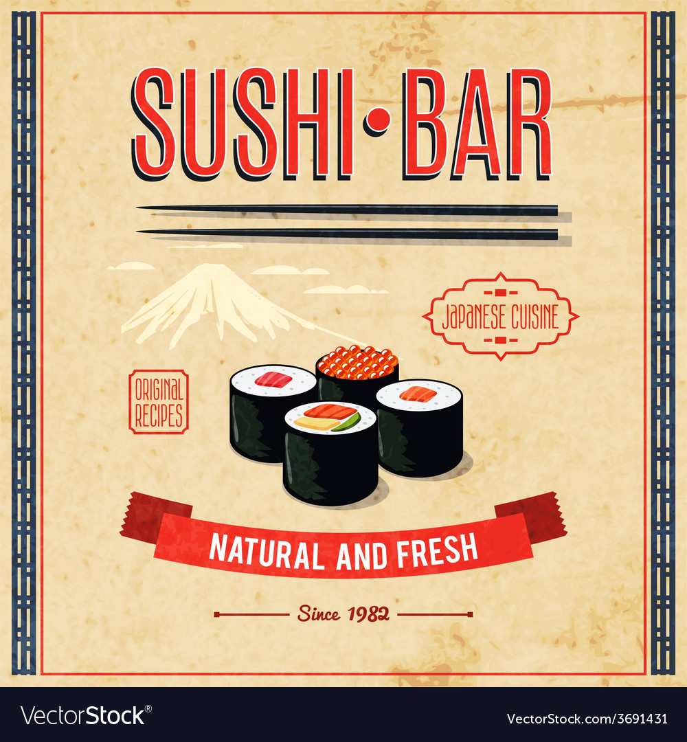 Asian food poster vector | Price: 1 Credit (USD $1)