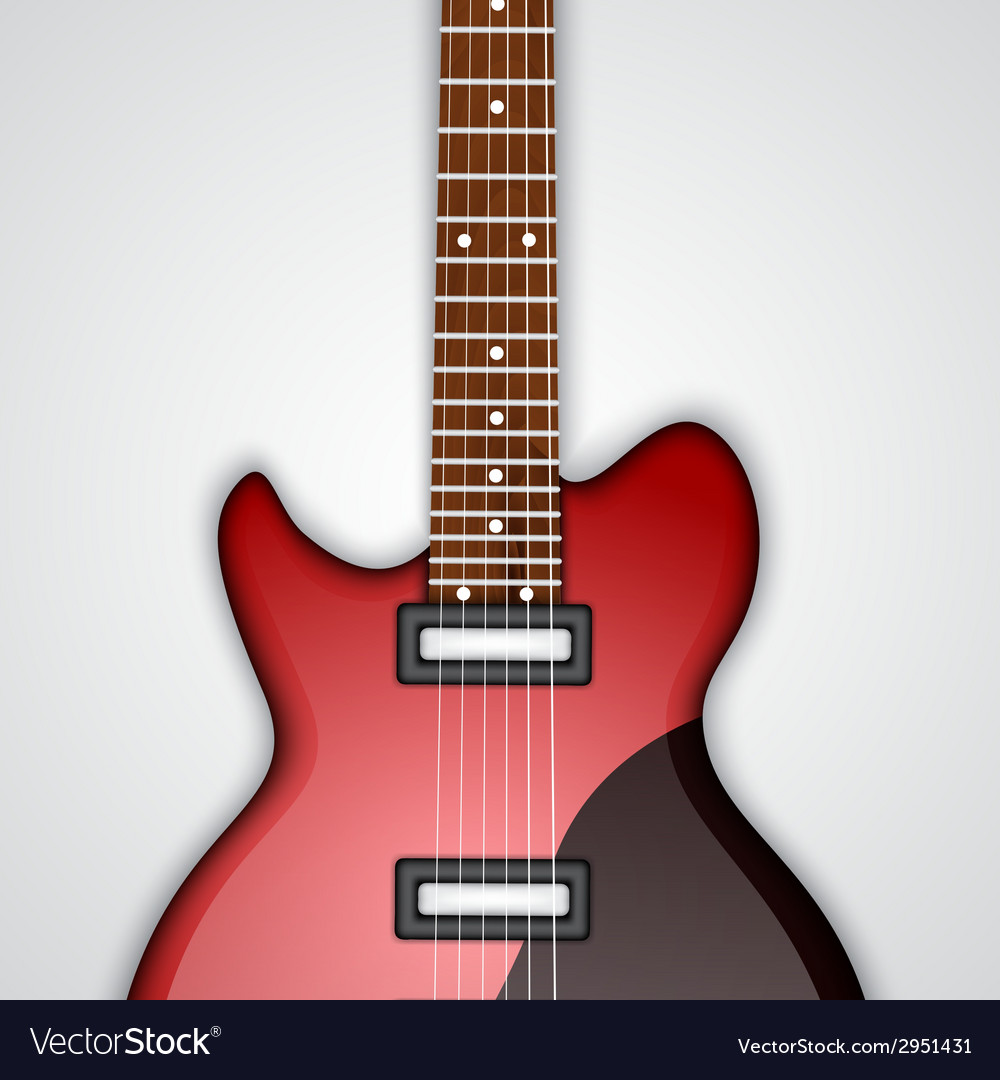 Electric guitar vector | Price: 1 Credit (USD $1)
