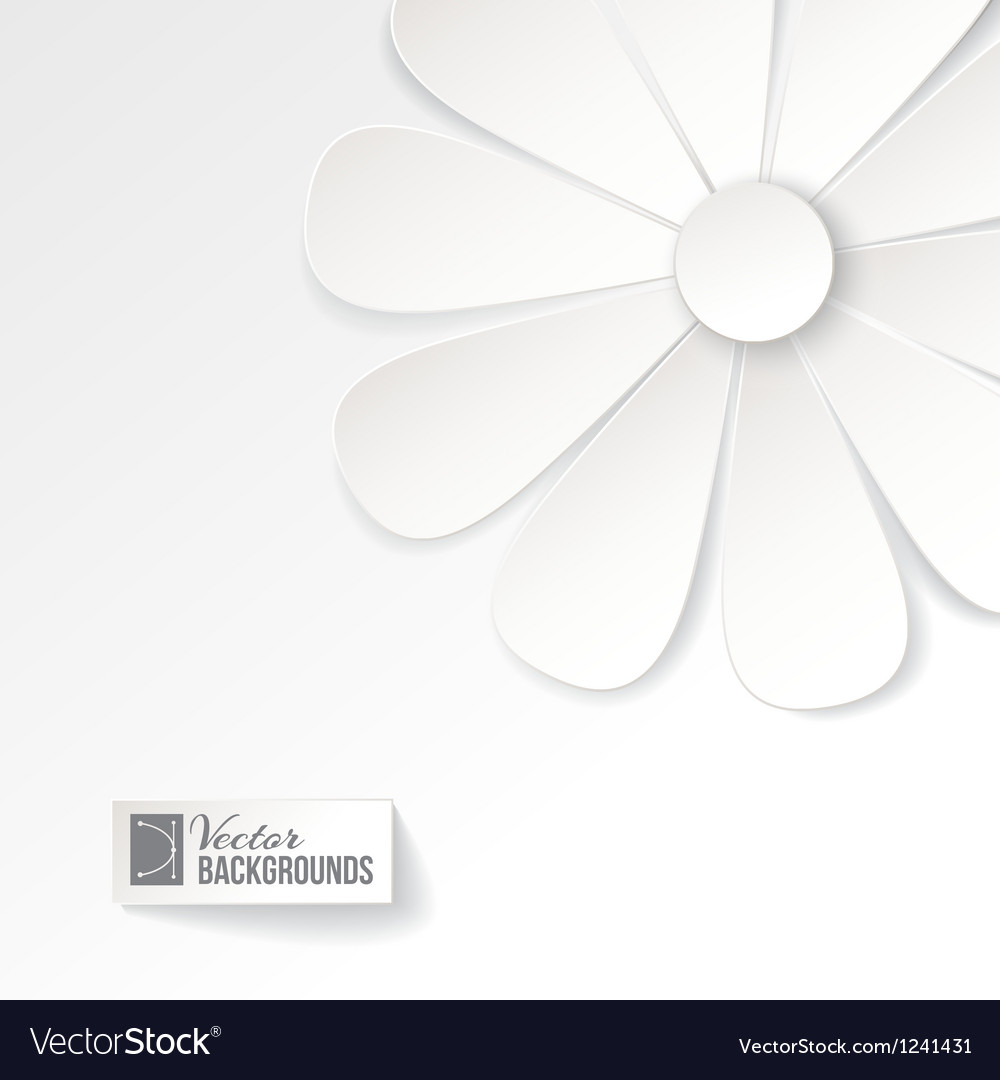 Greeting card with paper flower vector   Price: 1 Credit (USD $1)