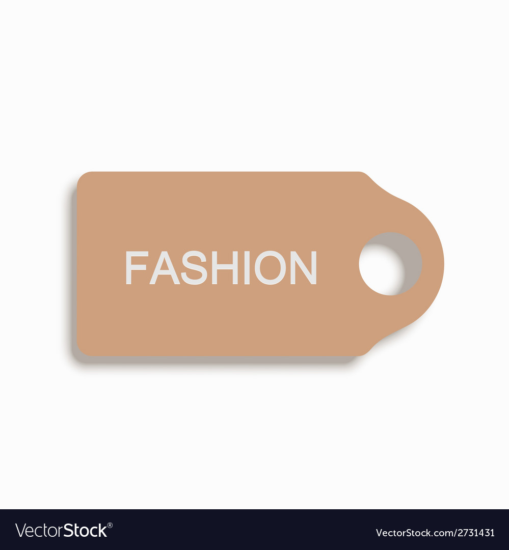 Modern shopping icon on white background vector | Price: 1 Credit (USD $1)