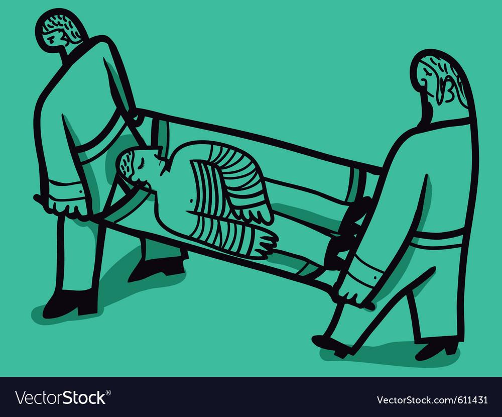 Nurses stretcher vector | Price: 3 Credit (USD $3)