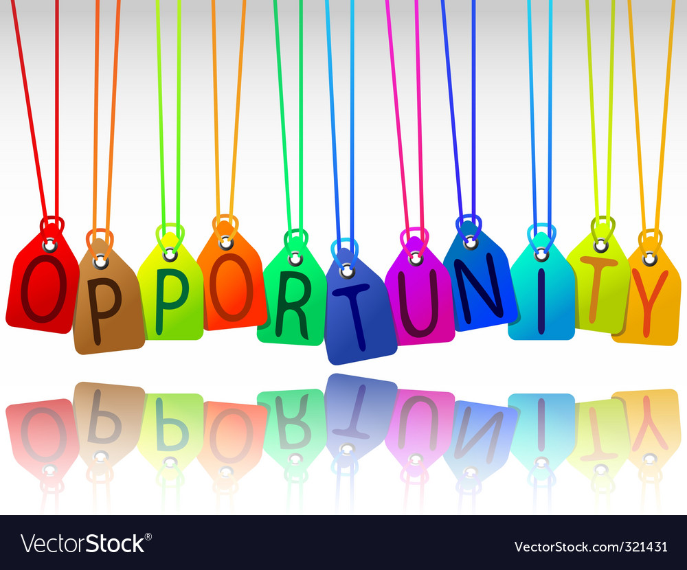 Opportunity tags vector | Price: 1 Credit (USD $1)
