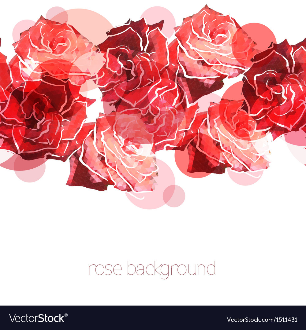 Rose background floral abstract pattern vector | Price: 1 Credit (USD $1)