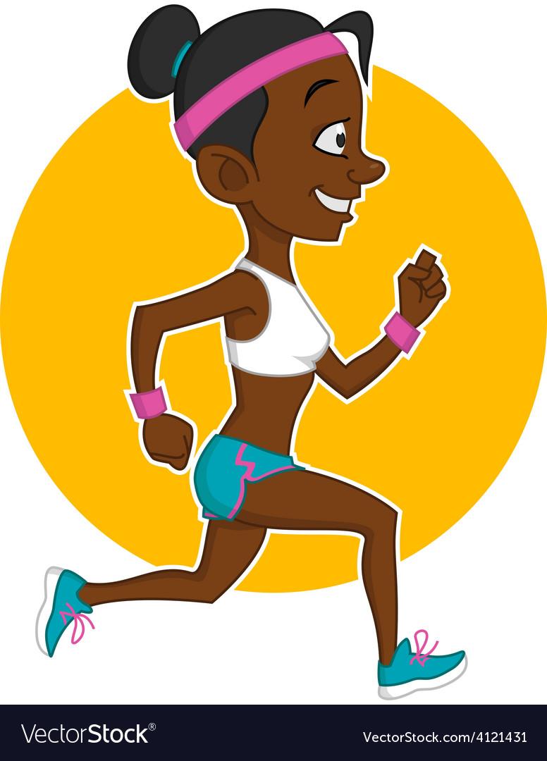 Running girl vector