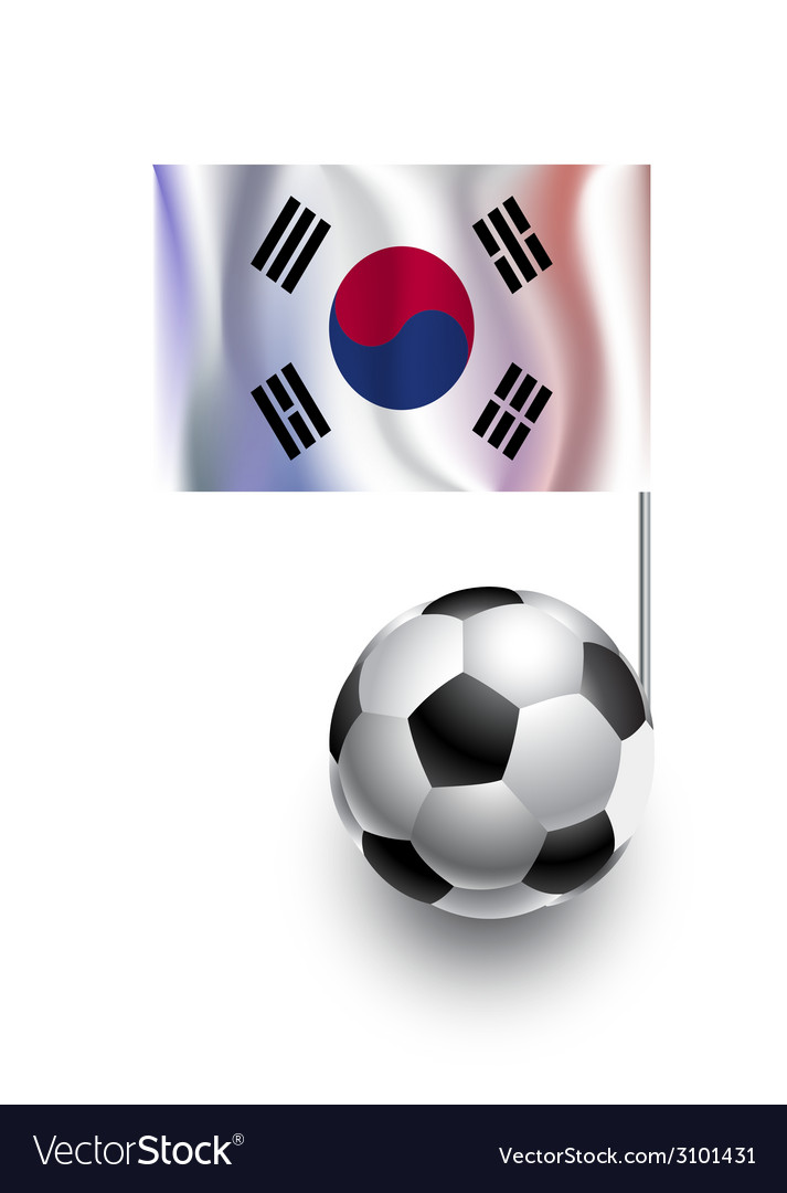 Soccer balls or footballs with pennant flag of vector | Price: 1 Credit (USD $1)