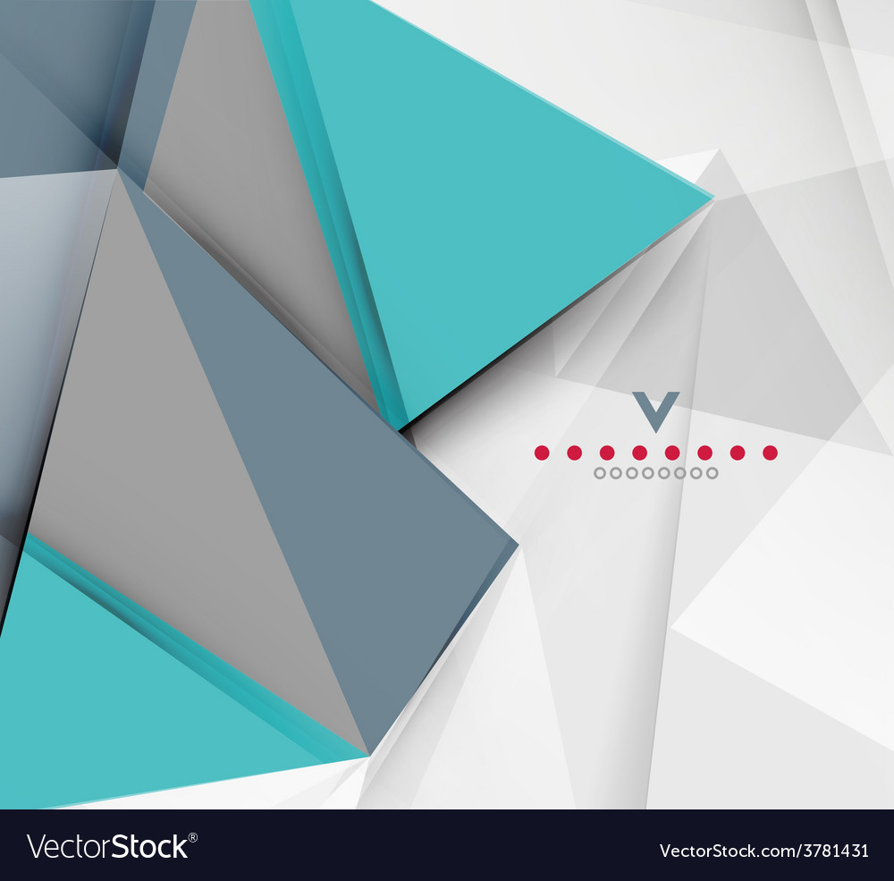 Triangular modern abstract background vector | Price: 1 Credit (USD $1)