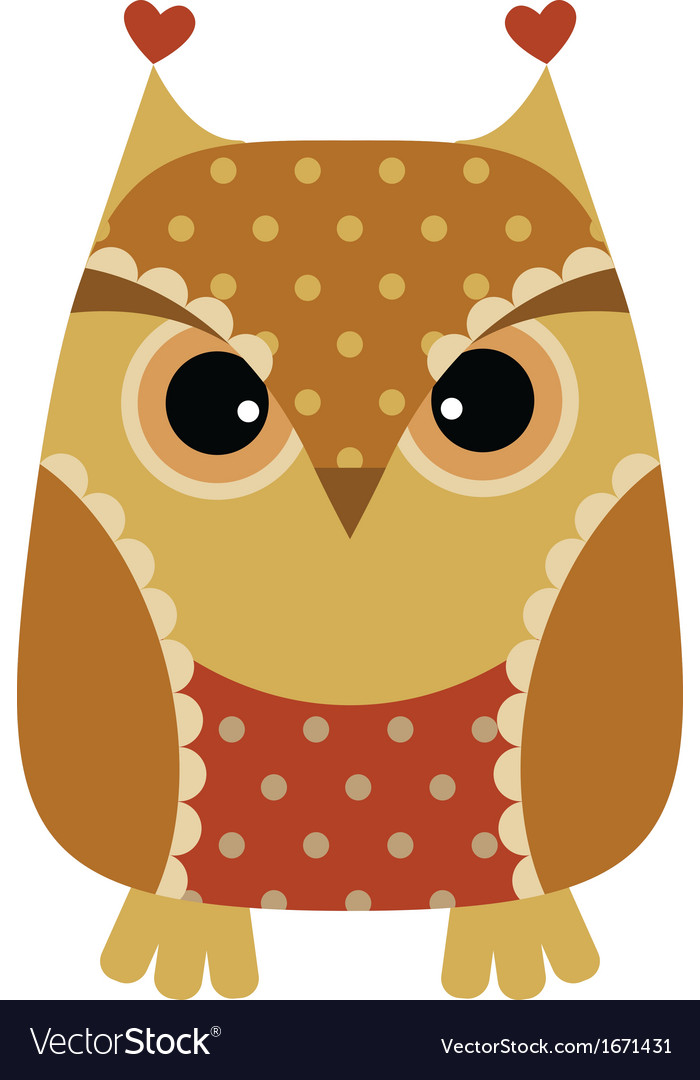 Unny cartoon owl vector | Price: 1 Credit (USD $1)