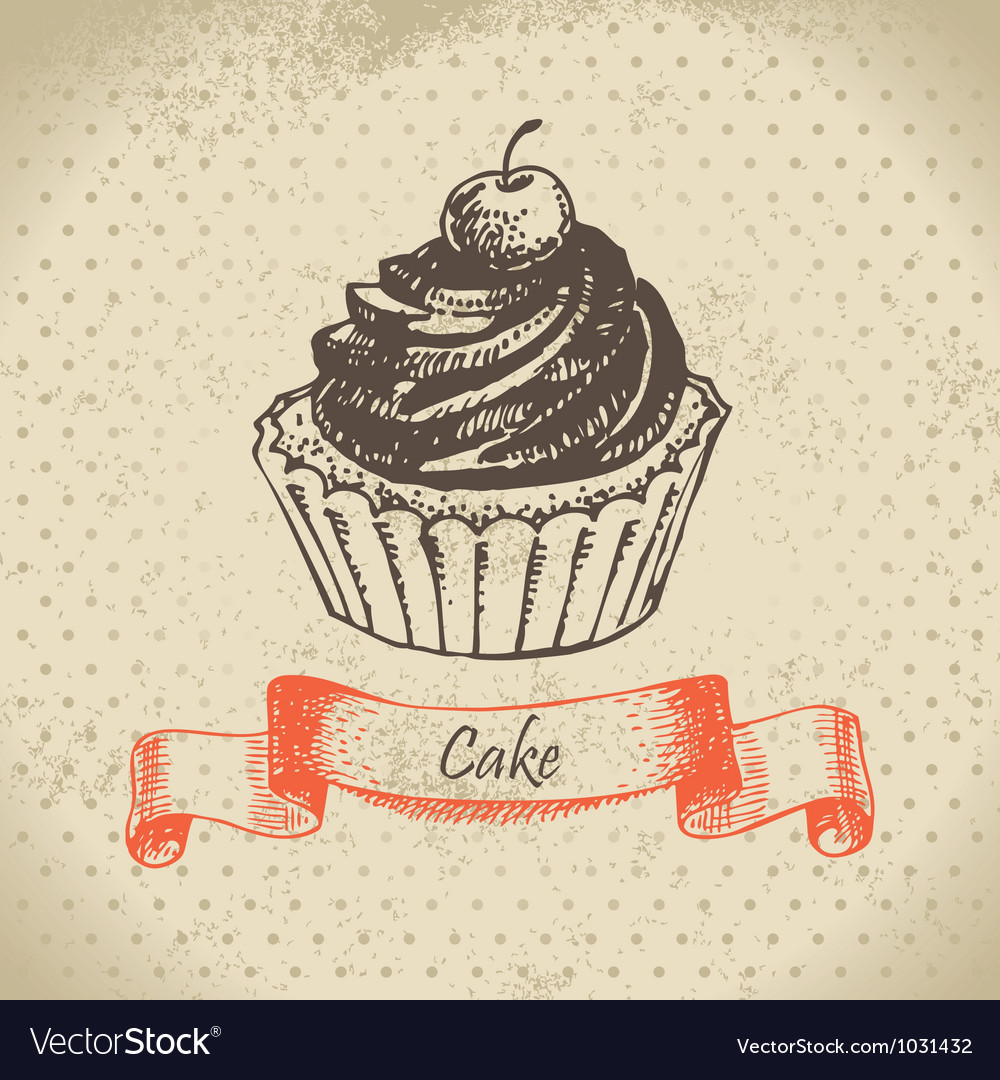 Cake hand drawn vector | Price: 1 Credit (USD $1)