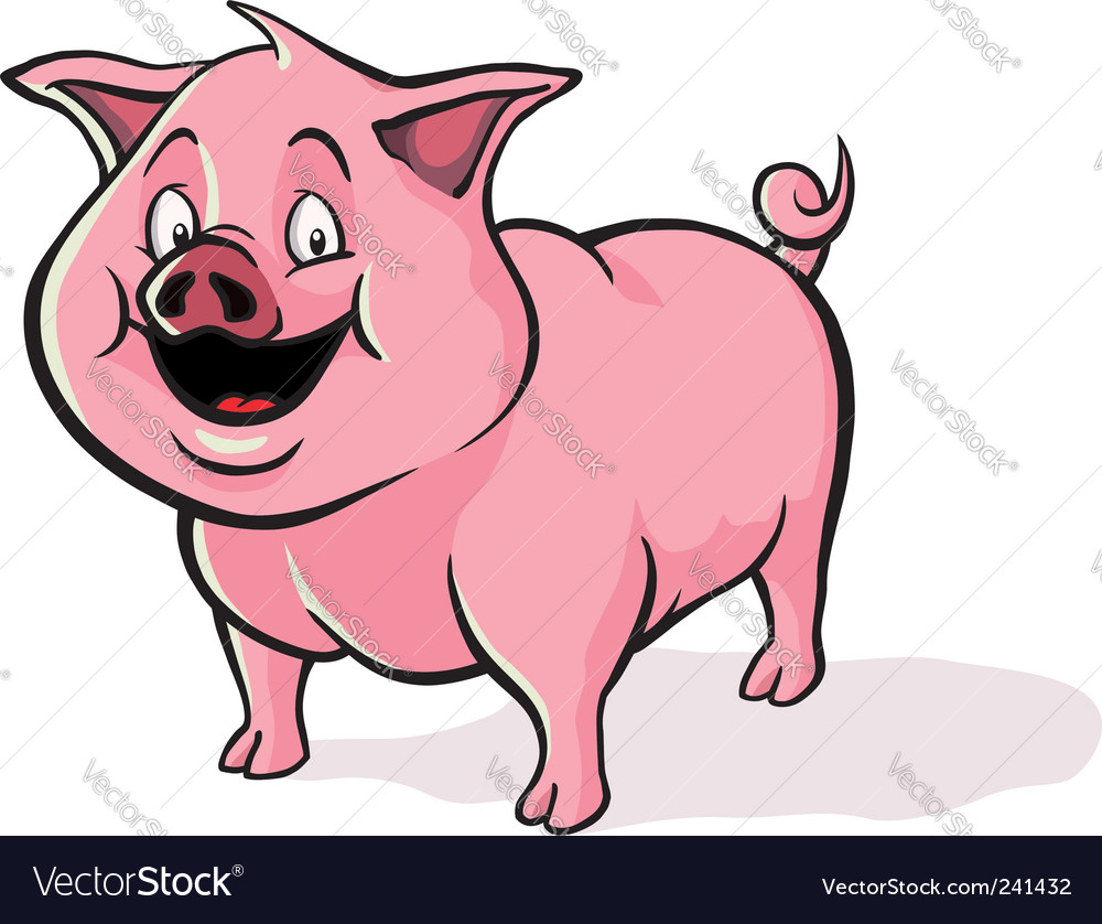 Cartoon pig vector | Price: 3 Credit (USD $3)